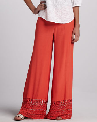 Capitola Embroidered Voile Tunic & Noe Valley Crepe Pants