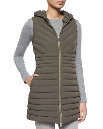 Cartier Miter Ribbed Long Vest