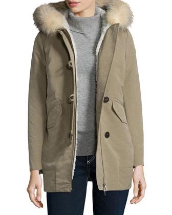 Loftus Coat W/ Fur-Trim-Hood