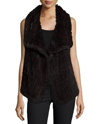 Draped Hare Fur & Cashmere Vest