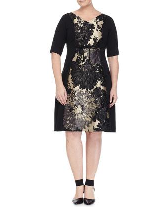 Decuria Half-Sleeve Cocktail Dress, Women's