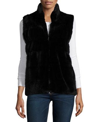Neiman Marcus Reversible Fur & Cashmere Vest