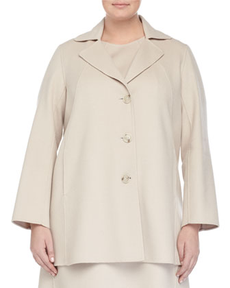 Nettuno Wool-Blend Short Coat, Wool-Blend A-line Dress & Leonida ...