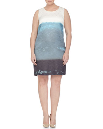 Maggiore Wool-Cashmere Long Cardigan, Sleeveless Printed Sheath Dress & ...