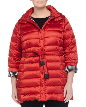 Lugano Reversible Quilted Belted Travel Jacket, Women's