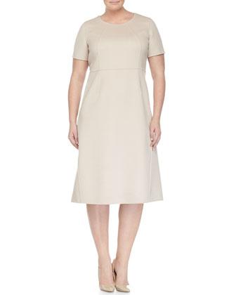 Nettuno Wool-Blend Short Coat, Wool-Blend A-line Dress & Leonida ...