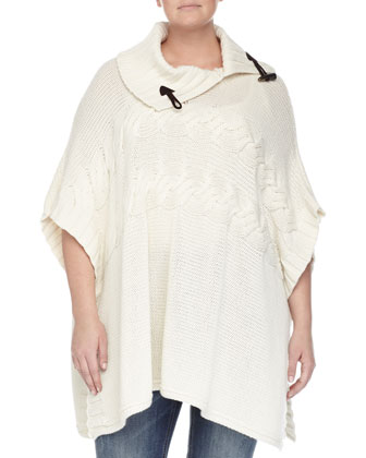 Merino Wool Poncho w/ Toggle Detail, Women's