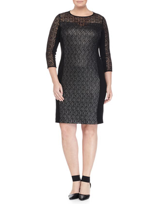 Doris Lace Sheath Dress, Women's
