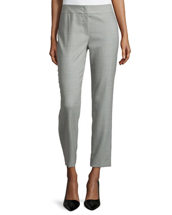 Low-Rise Cropped Pants, Smaraged