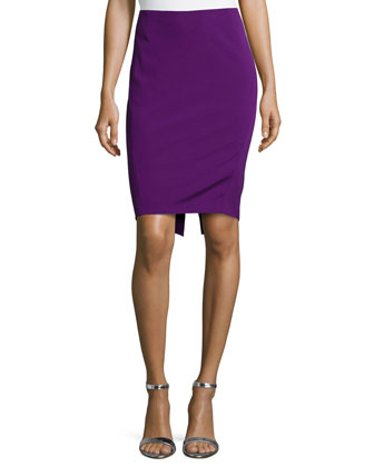 Mid-Rise Pencil Skirt, Iris