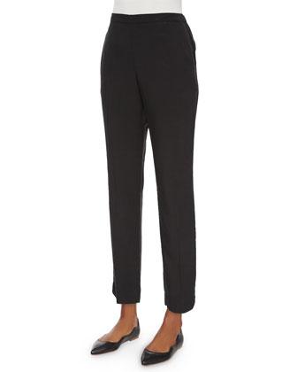 Linen Ribbed Open Cardigan, Silk Jersey Slim Camisole, Shibori Braid Scarf ...