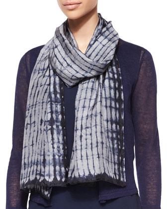 3/4-Sleeve Slub Cropped Cardigan, Silk Asymmetric Dress & Silk Shibori ...