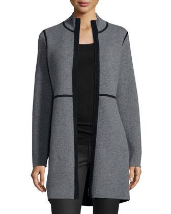 Reversible Cashmere Double-Knit Jacket