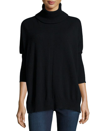 Cashmere Dolman Turtleneck Tunic