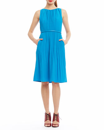 Picadilly Pleated Dress W/ Belt