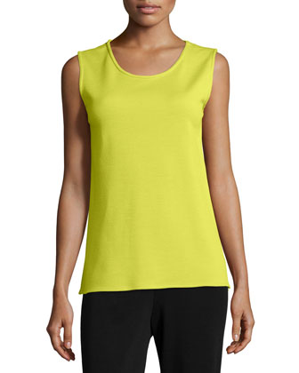 Sleeveless Wool Long Tank, Women's
