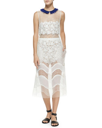 Iris Layered Dress, White
