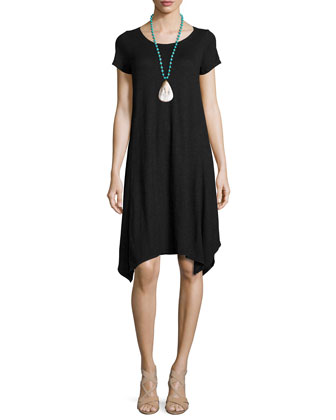 Short-Sleeve Hemp Twist Dress