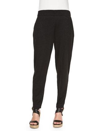 Hemp Twist Slouchy Pants, Black