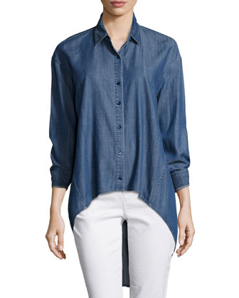 Fisher Project Denim High-Low Shirt