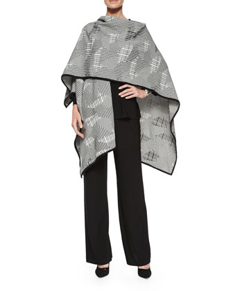 Pattern Play Jacquard Wrap, 3/4-Sleeve Stretch-Knit Top & Stretch-Knit ...