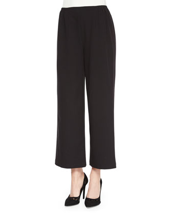 Travel Gabardine Ankle Pants, Black, Petite