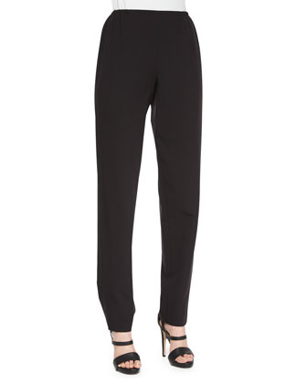 Travel Gabardine Slim Pants, Black, Women's