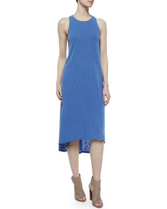 High-Low Midi Shift Dress, French Blue