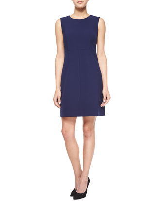 Sleeveless Carrie A-Line Dress, Midnight