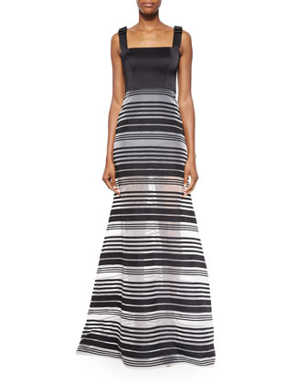 Thelma Striped Sleeveless Maxi Dress