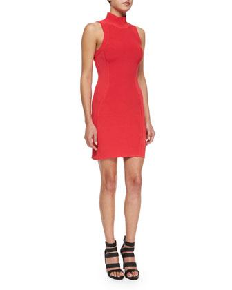 Amy Sleeveless Turtleneck Dress, Rosebud