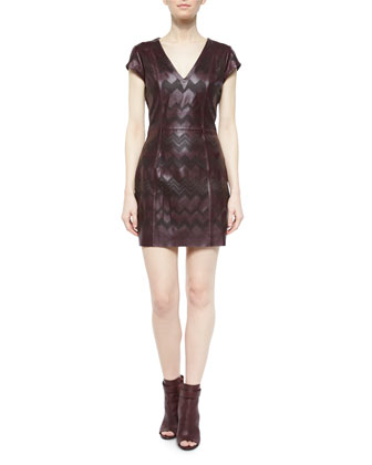 Serena Leather Sheath Dress, Allure