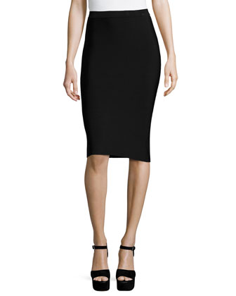 Laura High-Waist Pencil Skirt, Black