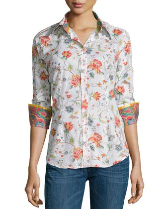 Gila's Garden Printed Long-Sleeve Blouse