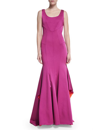 Katherine Sleeveless Mermaid Gown