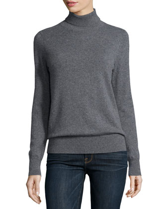 Classic Long-Sleeve Cashmere Turtleneck, Women's