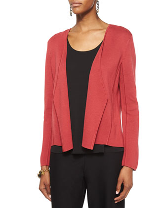 Silk Organic Cotton Interlock Angled Jacket, Women's