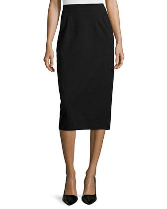 High-Waist Ponte Pencil Skirt, Petite