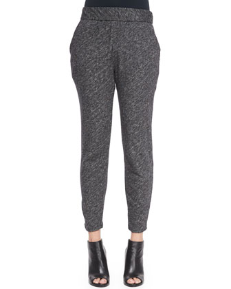 Bias Organic Cotton-Blend Slouchy Pants