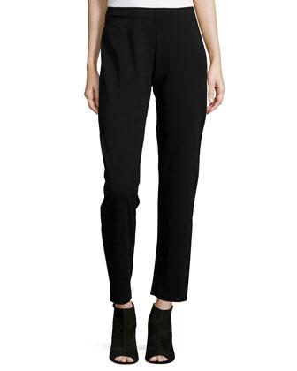 Heavyweight Rayon Skinny Pants, Black, Women's