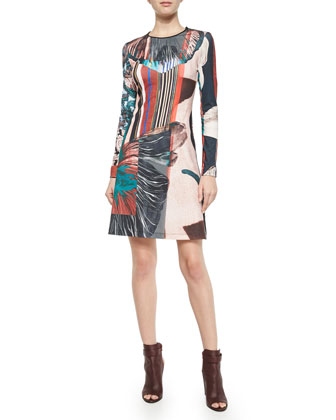 Autumn Stripe Long-Sleeve Dress