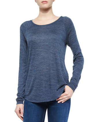 Frayed-Edge Textured Cardigan, Space-Dye Crewneck Sweater & Five-Pocket ...