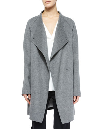 Two-Tone Sweater-Back Coat