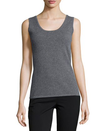 Scoop-Neck Cashmere Tank, Women's