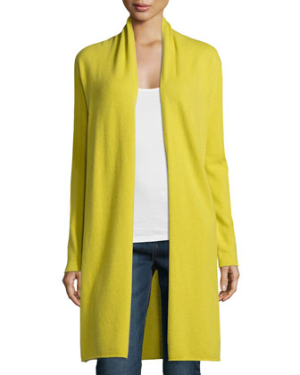 Long Cashmere Duster Cardigan, Women's
