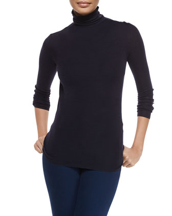 Jannelo Colorblock Knit Sweater, Cenelle Wool/Silk Turtleneck Sweater & ...