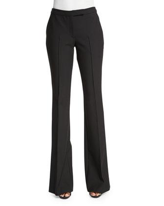 Hanlon Flare-Leg Trousers, Black