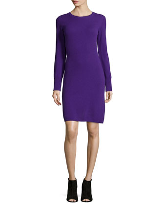 Cashmere Crewneck Sweaterdress, Women's
