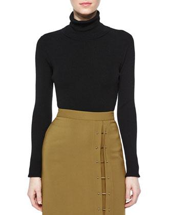 Milo Merino Turtleneck Sweater, Black