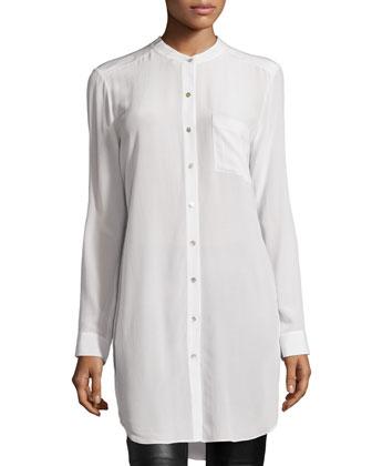 Long-Sleeve Silk Tunic/Shirt
